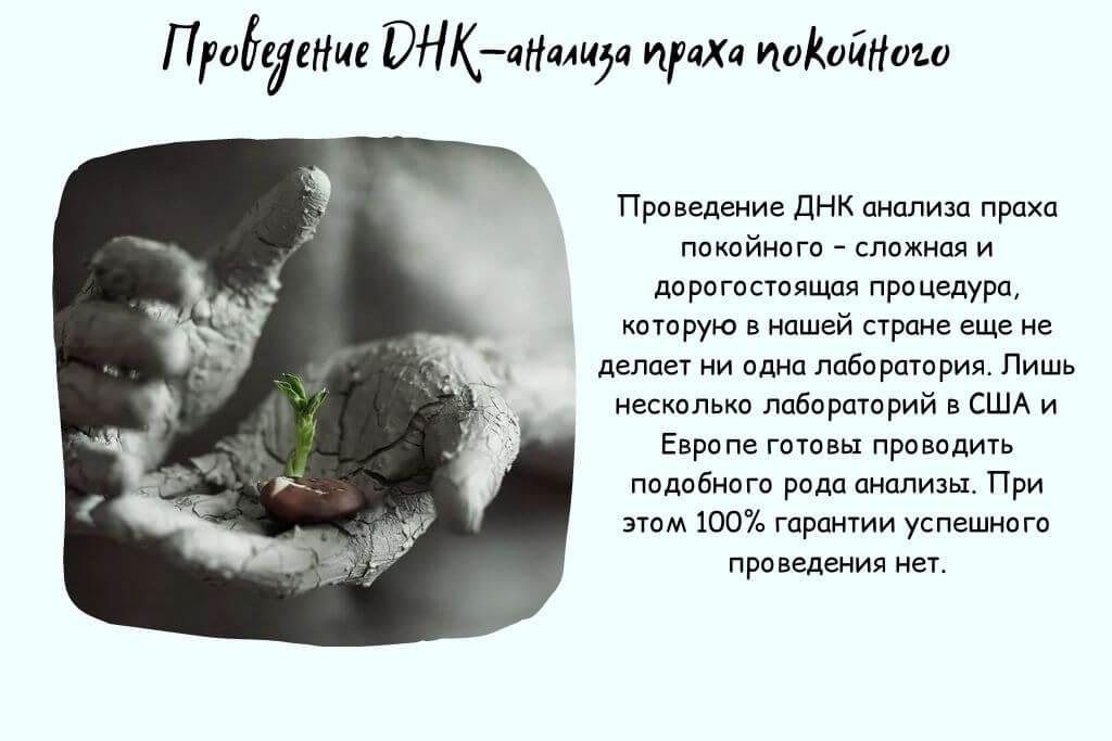 ДНК из праха умершего