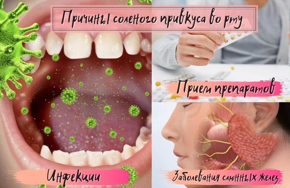 Почему соленый привкус во рту